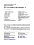 Graduate course catalog (Florida International University). [2014-2015] by Florida International University