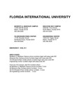 Graduate course catalog (Florida International University). [2015-2016] by Florida International University