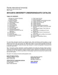 Undergraduate course catalog (Florida International University). [2014-2015]