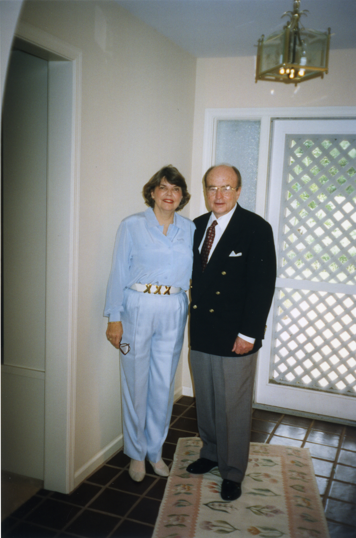 Charles And Betty Perry In Their Palm Beach Home