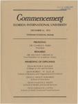 FIU Commencement Fall 1973