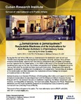 ¿ Jamaicanos o jamaiquinos? Respectable Blackness and Its Implications for Anti-Racist Activism in 21st-Century Cuba , Lecture by Andrea Queeley