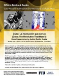 Cuba: La revolución que no fue (Cuba: The Revolution That Wasn't) , Book Presentation by Author Emilio Guede