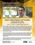 Cuba's Judicial System and Transition: Lecture by Antonio G. Rodiles and Amelia Maria Rodríguez Cala