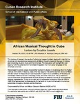African Musical Thought in Cuba , Lecture by Eurydice Losada