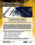 To Adjust or Not to Adjust? A Seminar on the Cuban Adjustment Act