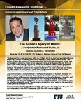 The Cuban Legacy in Miami: A Footprint in Permanent Public, Art Lecture by Jorge A. Hernández