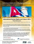 International Human Rights and Cuba in 2014, Panel Discussion