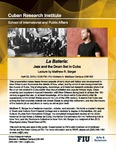 La Batería: Jazz and the Drum Set in Cuba, Lecture by Matthew R. Berger