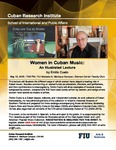 Women in Cuban Music: An Illustrated Lecture, by Emilio Cueto