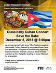 Classically Cuban Concert Save the Date: December 8, 2013@ 5:00pm