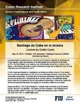 Santiago de Cuba en Ia música, Lecture by Emilio Cueto