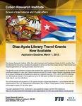 Díaz-Ayala Library Travel Grants Now Available [Announcement]