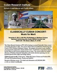 Classically Cuban Concert: Music for Martí