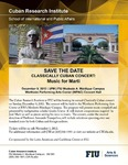 Save the Date Classically Cuban Concert: Music for Martí