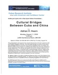 Cultural Bridges Between Cuba and China