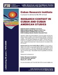 Research and Contest in Cuban and Cuban American Studies