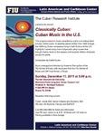 Classically Cuban: Cuban Music in the U.S.