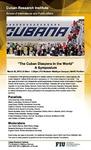 The Cuban Diaspora in the World A Symposium