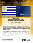 Mercosur: The Common Market of the South: Institutional Reality and Challenges