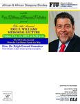 The 17th Annual Eric E. Williams Memorial Lecture
