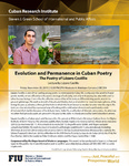 Evolution and Permanence in Cuban Poetry- The Poetry of Lazaro Castillo