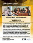 Teaching Music to Cuban Children