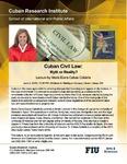 Cuban Civil Law: Myth or Reality?