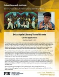 Diaz-Ayala Library Travel Grants- Call for Applications