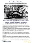 New Scholarship Opportunity for FIU Students- The Jose Antonio Echeverria Scholarship