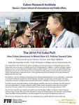 The 2016 FIU Cuba Poll: How Cuban Americans in Miami View U.S. Policies Toward Cuba (September 14,2016)