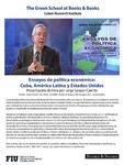 Ensayos de politica economica: Cuba, America Latina y Estados Unidos- Presentacion de libro por Jorge Salazar- Carrillo
