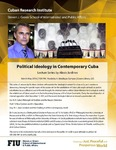 Political Ideology in Contemporary Cuba- Lecture Series by Alexis Jardines