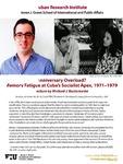 Anniversary Overload? Memory Fatigue at Cuba's Socialist Apex, 1971-1979