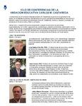 Ciclo De Confernencias De La Fundacion Educative Carlos M. Castaneda