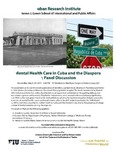 Mental Health Care in Cuba and the Diaspora A Panel Discussion