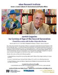 Spanish Legacies The Coming of Age of the Second Generation A Panel Discussion with Author Alejandro Portes