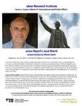 Carlos Ripoll's José Marti Lecture by Enrico Mario Santi