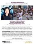 Caribbean Children's Music Rhythms, Melodies, and Lyrics Lecture by Marta Hernández Candelas