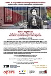 Before Night Falls Reflections on the Life of Reinaldo Arenas with Music from Jorge Martin's Opera Before Night Falls