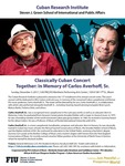 Classically Cuban Concert Together: In Memory of Carlos Averhoff, Sr.
