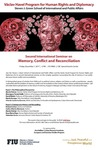 Second International Seminar on Memory, Conflict and Reconciliation by Steven J. Green School of International and Public Affairs