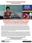 Tell My Mother I Gone to Cuba: Stories of Early Twentieth-Century Migration from Barbados by Sharon Milagro Marshall