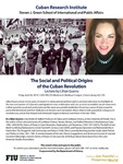 The Social and Political Origins of the Cuban Revolution by Lillian Guerra