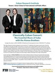 Classically Cuban Concert: The Essential Music of Cuba with the Alonso Brothers by Cuban Research Institute