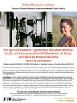 The Lyrical Theater in Expressions of Cuban Identity: Study and Reconstruction of El Sombrero de Yarey, an Opera by Ernesto Lecuona