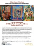 Call for Applications 2019 Diaz-Ayala Library Travel Grants by Cuban Research Institute, Florida International University