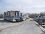 Houseboats pushed out of the water by Hurricane Wilma, Flamingo