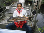Jennifer Rehage with a snook, Rookery Branch