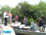 Researchers and students from Dr. Rehage's lab sampling fish in the Shark River Estuary by Jennifer S. Rehage